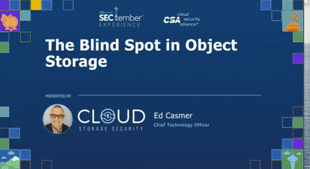 Ed Casmer and his discussion on the Blind Spot in Object Storage